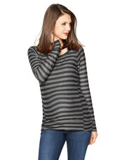 Maternity Sweatshirt, Black / Charcoal