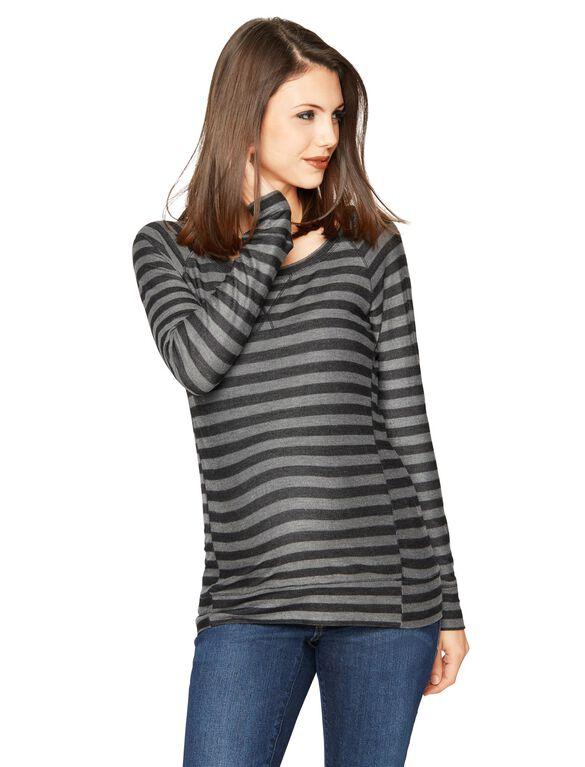 Maternity Sweatshirt, Black / Charcoal