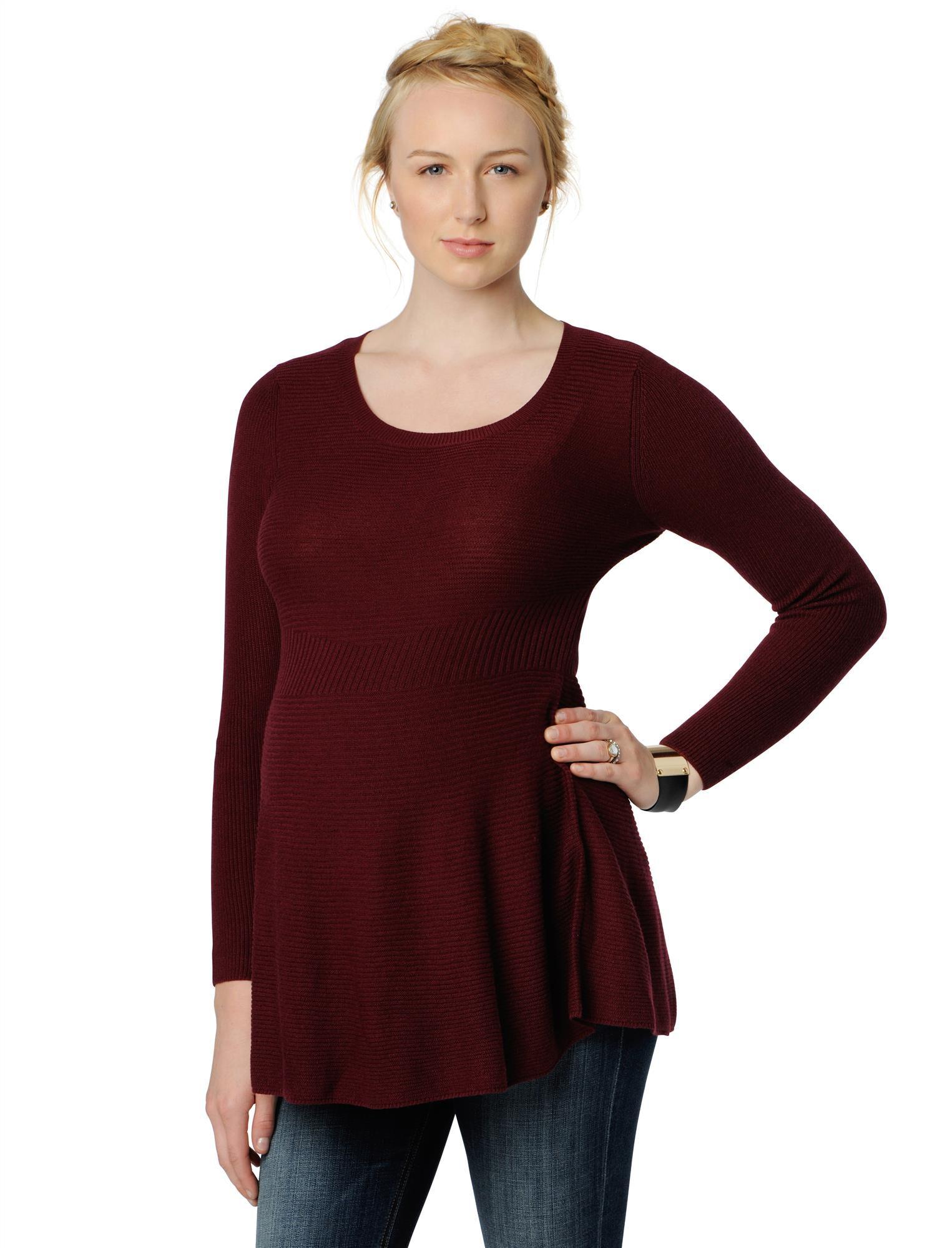 Peplum Maternity Sweater