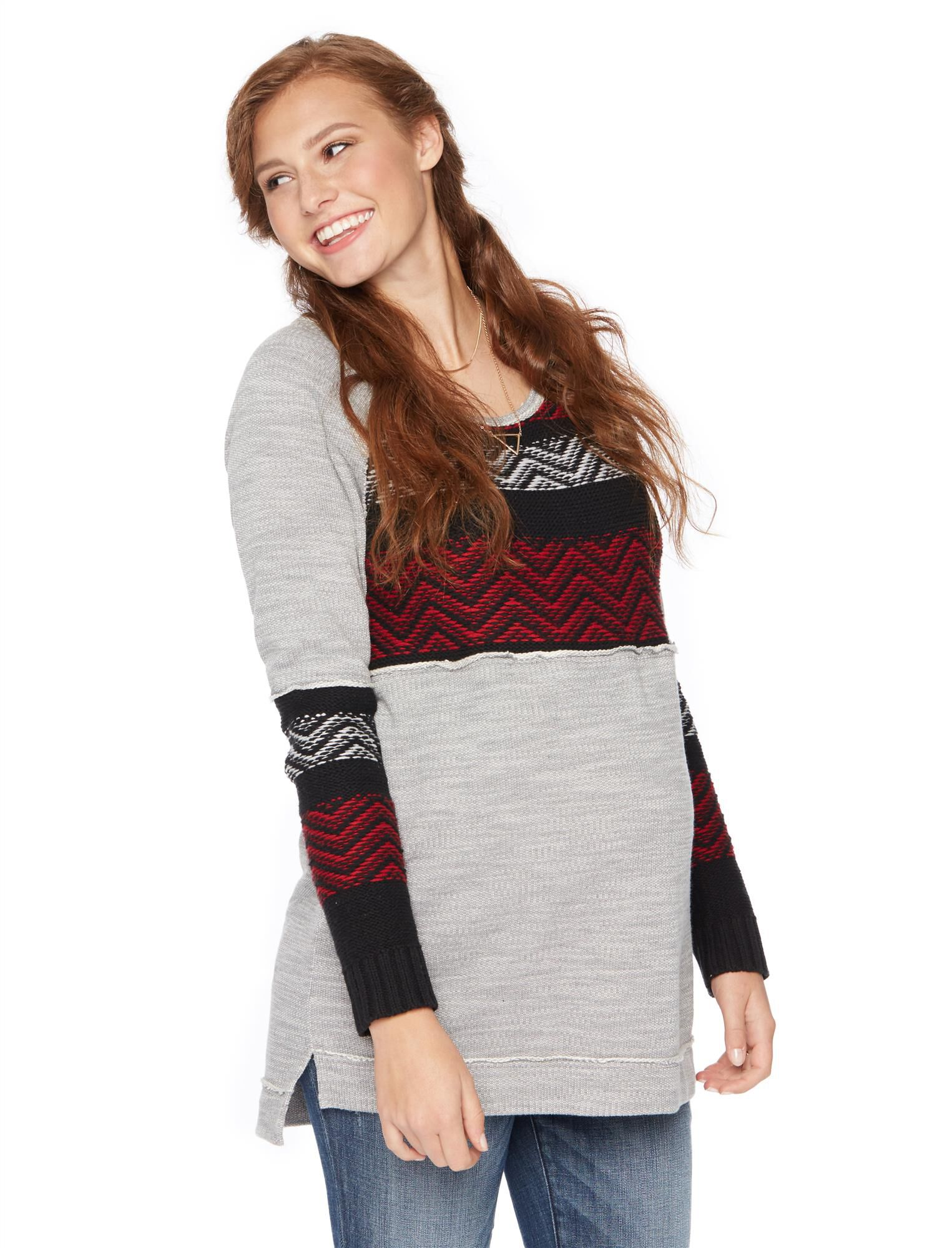 Wendy Bellissimo Zig Zag Knit Maternity Sweater