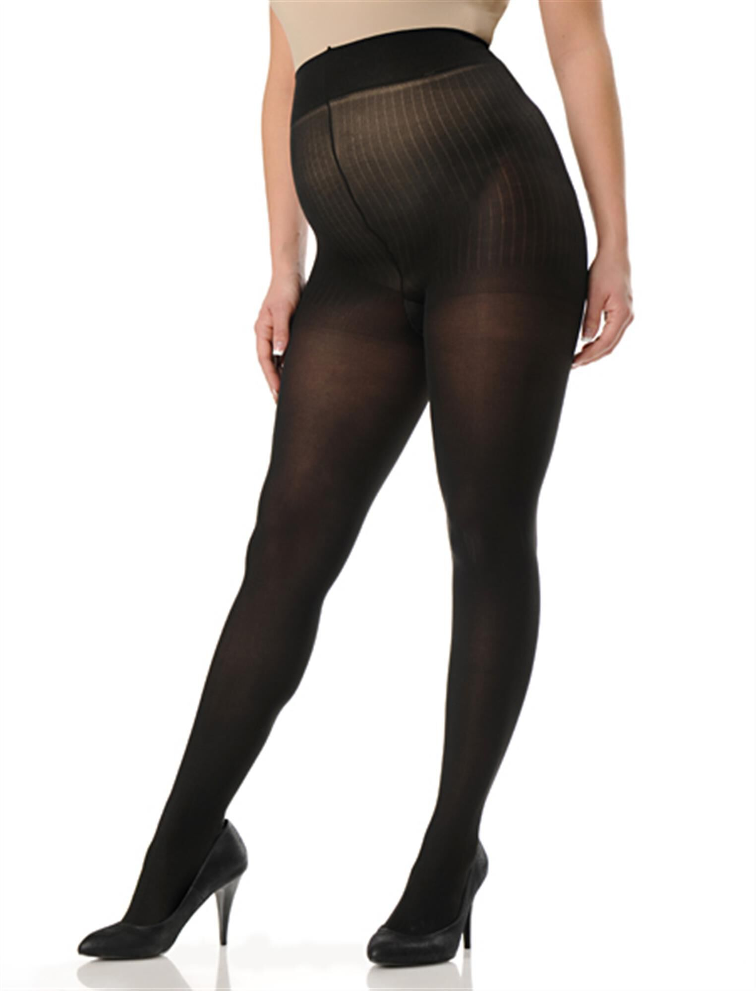 Plus Size Opaque Maternity Tights