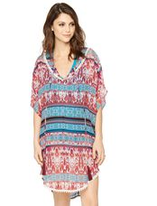 Caftan Maternity Swim Cover-up, Multi-print