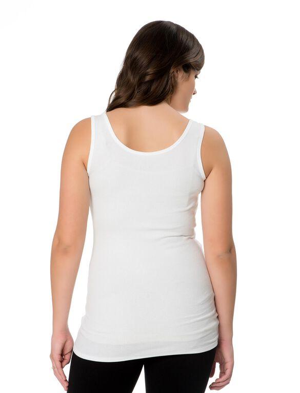 Jingle Bellies Maternity Tank, White