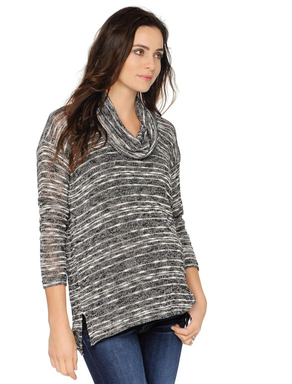 Splendid Maternity Sweater, Black