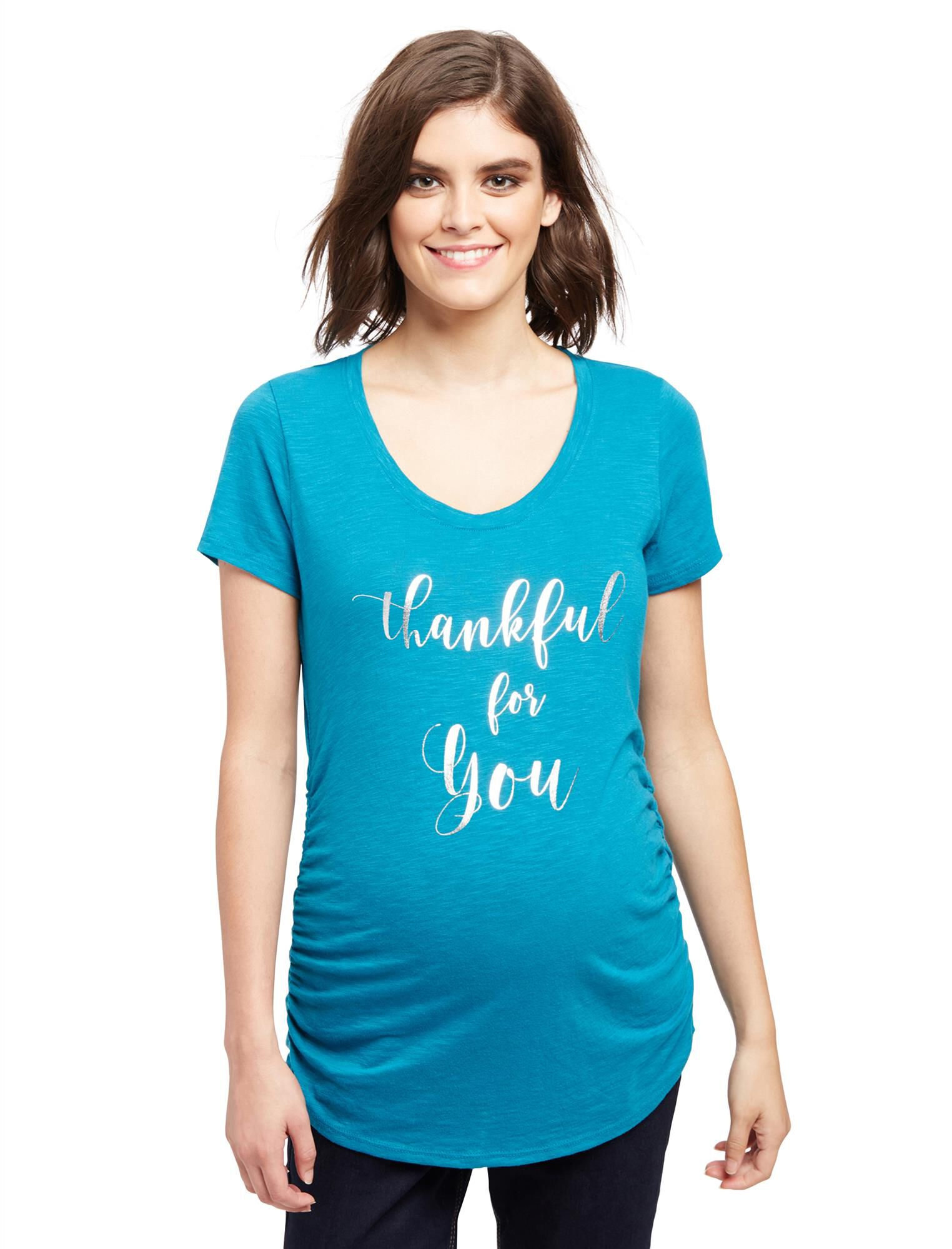 Thankful For You Maternity Tee