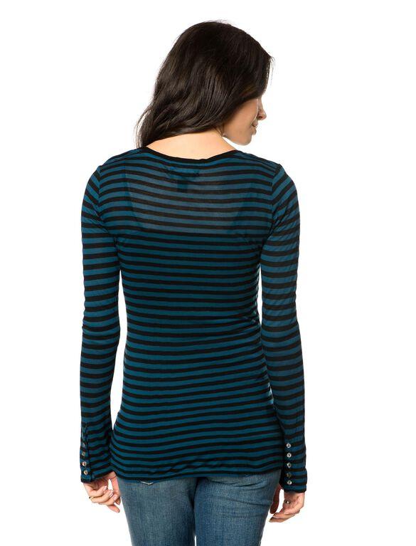 Maternity T Shirt, Blue/Black