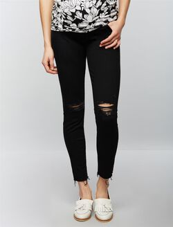 Mother Secret Fit Belly Looker Ankle Maternity Jeans- Guilty as Sin, Guilty As Sin