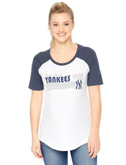 New York Yankees MLB Elbow Sleeve Maternity Graphic Tee, Yankees
