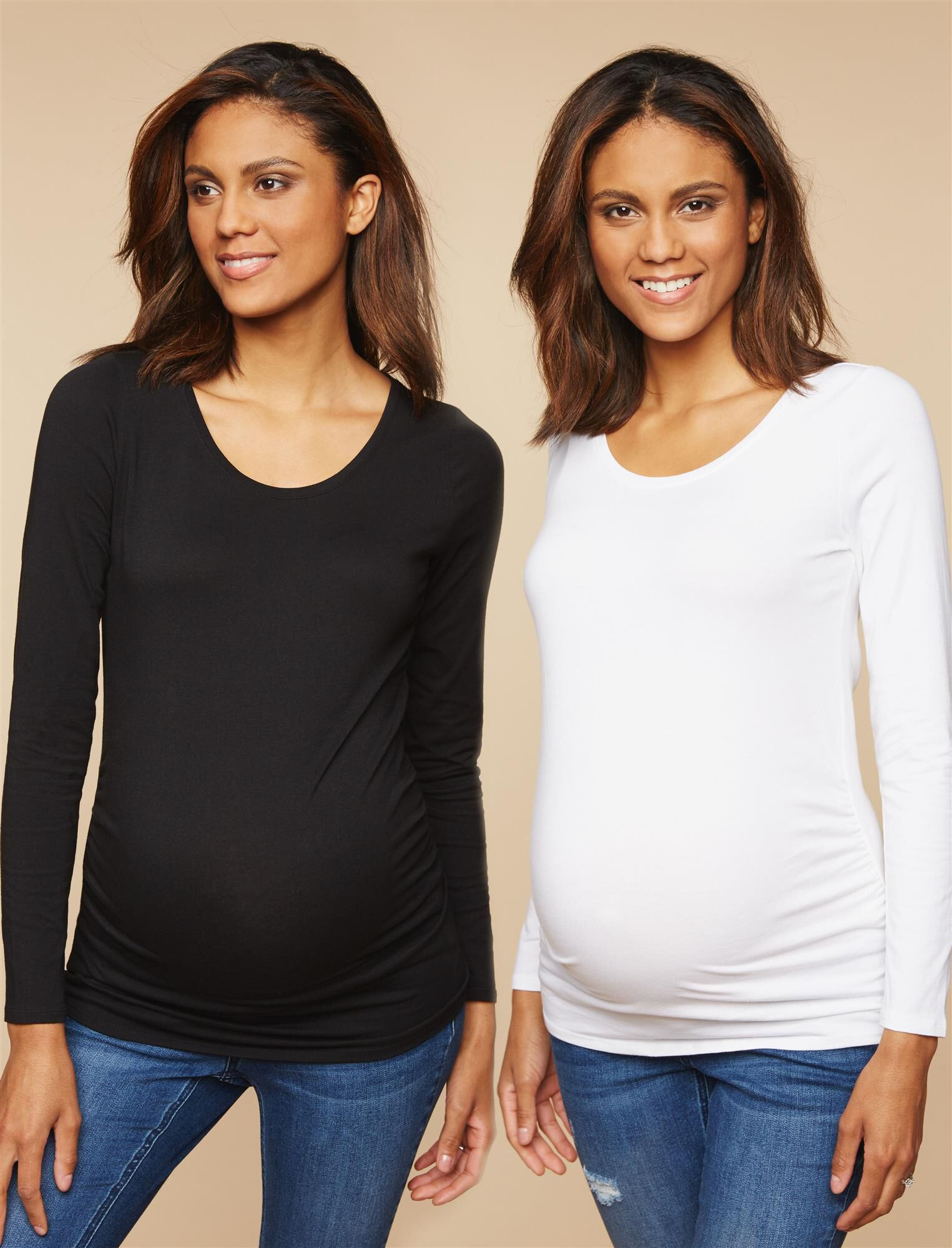 Bumpstart Long Sleeve Maternity T-shirt (2 Pack)