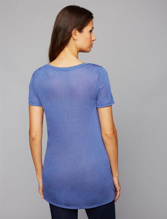 Layering Maternity T Shirt, Mauvewood