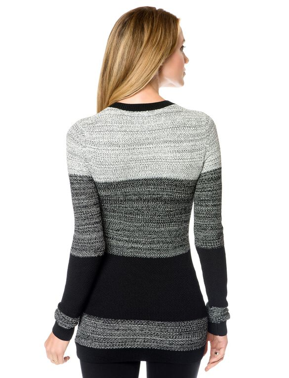 Maternity Sweater, Grey/Black/Charcoal