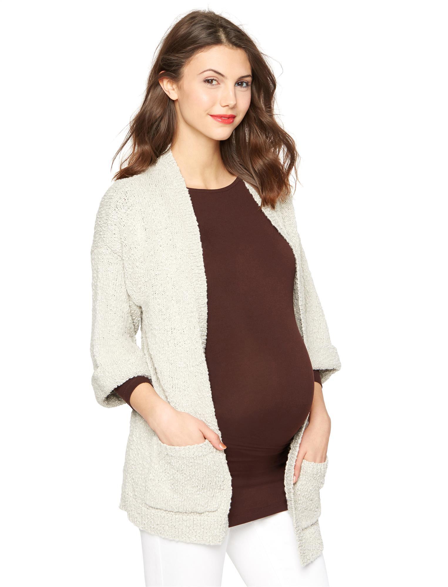 Drop Shoulder Maternity Cardigan