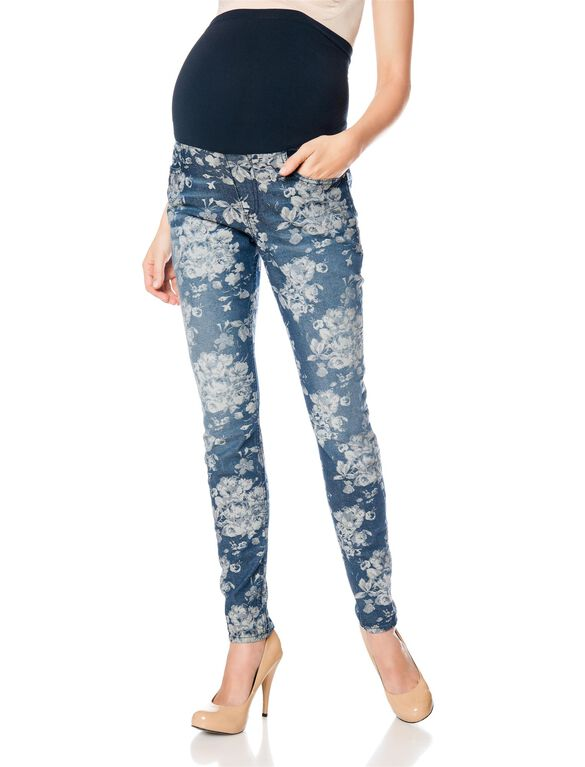 Vigoss Secret Fit Belly Skinny Leg Maternity Pants, Floral Print