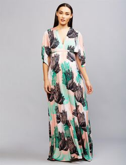 Rachel Pally Short Sleeve Caftan Maternity Maxi Dress, Agave Prnt