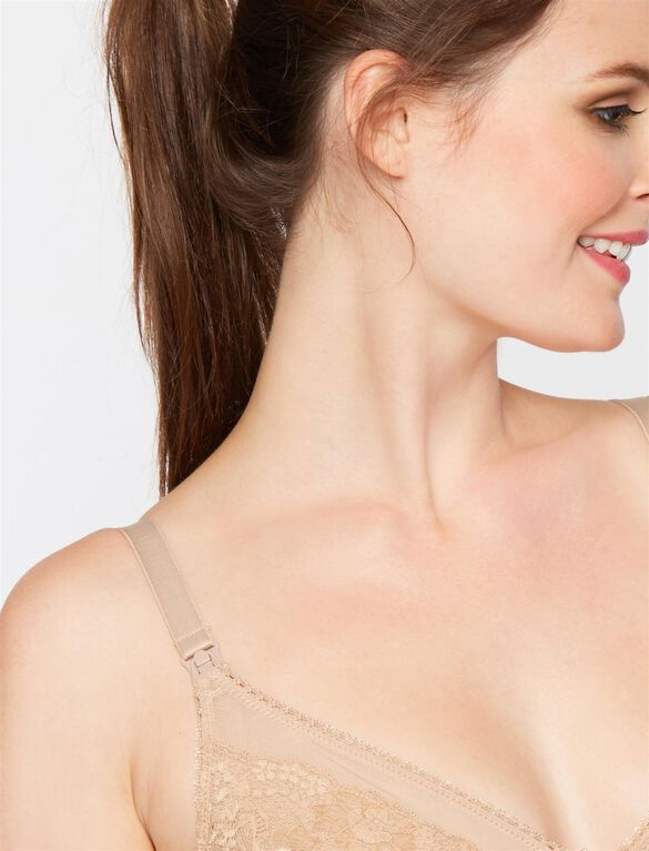 Rosie Pope Unlined Wireless Nursing Bra, Nude
