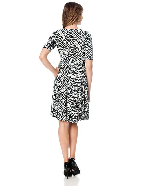Donna Morgan Wrap Maternity Dress, Black/White