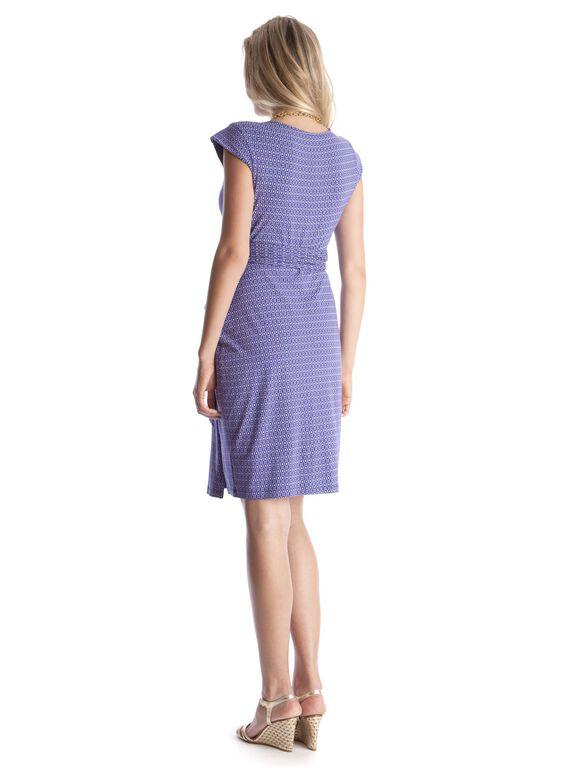 Seraphine Wrap Maternity Dress, Blue Print