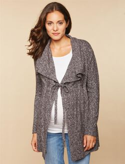 Tie Detail Maternity Sweater, Gray
