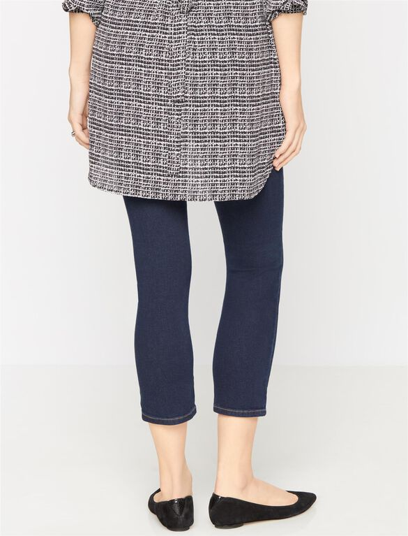 Kensie Secret Fit Belly Boot Cut Maternity Crop Jeans, Willow Dark Wash