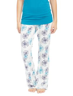 Maternity Sleep Pants- Prints, Snowflake Print