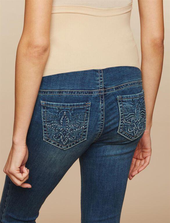 Secret Fit Belly Skinny Leg Maternity Jeans, Dark Wash