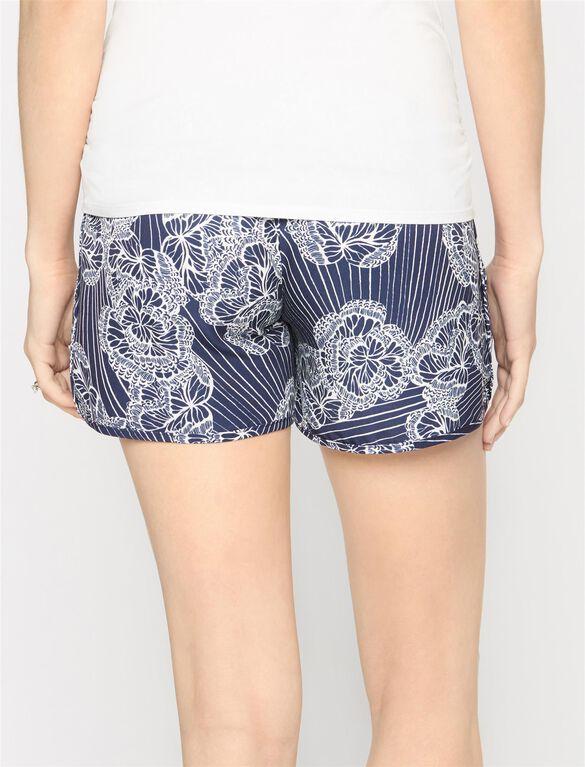 Secret Fit Belly Soft Maternity Shorts- Butterfly, Print