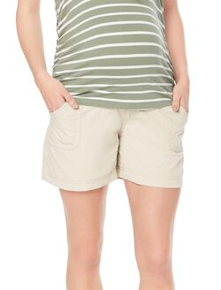 Secret Fit Belly Cargo Maternity Shorts, Khaki