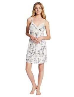 Jessica Simpson Lace Nursing Nightgown- Floral, Floral