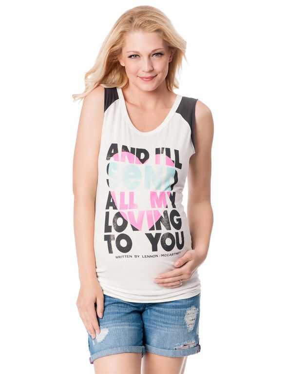 All My Loving to You Maternity Tee, Print