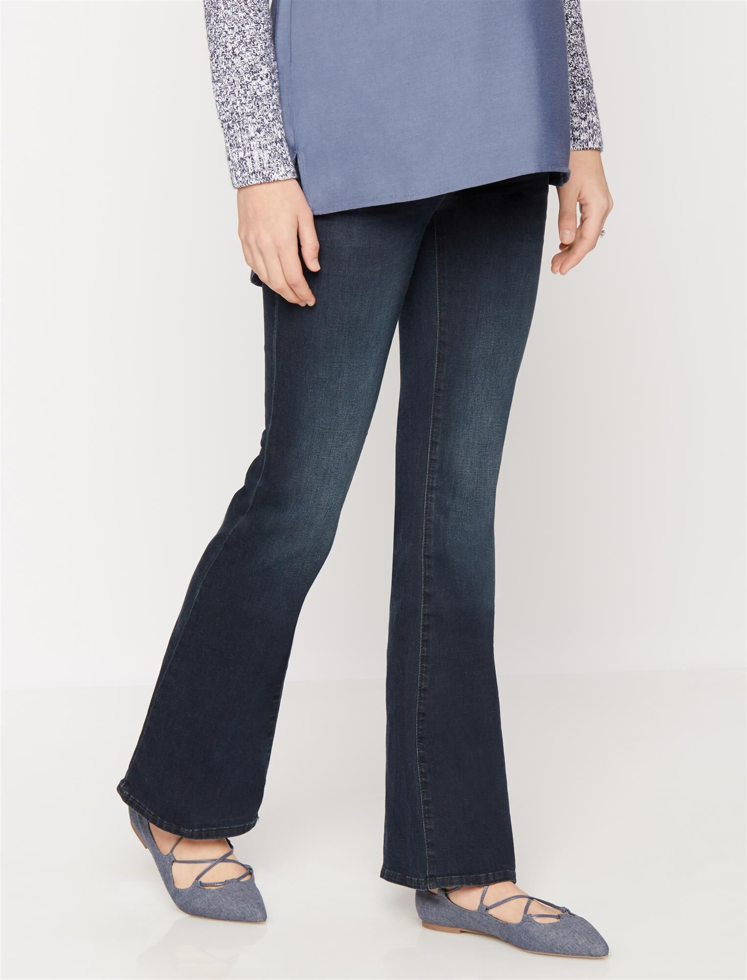Luxe Essentials Denim Secret Fit Belly Boot Cut Maternity Jeans