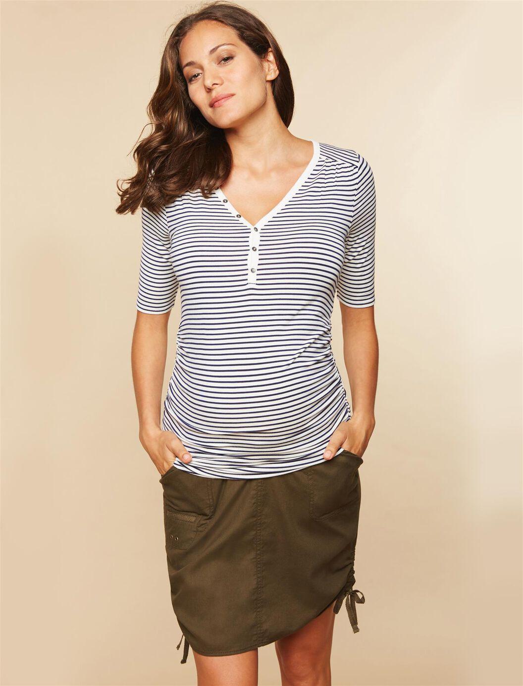 Secret Fit Belly Drawstring Maternity Skirt at Motherhood Maternity in Victor, NY | Tuggl