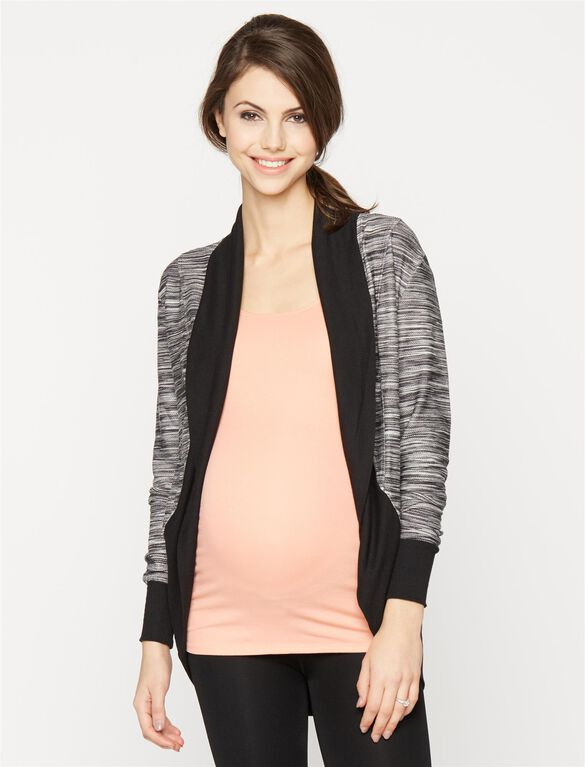 Cocoon Maternity Cardigan, Space Dye