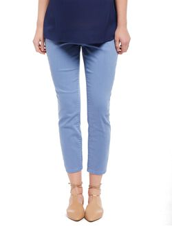 Secret Fit Belly Twill Skinny Leg Maternity Crop Pants, Dutch Blue