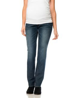 Secret Fit Belly Straight Leg Maternity Jean, Dusted Medium Wash