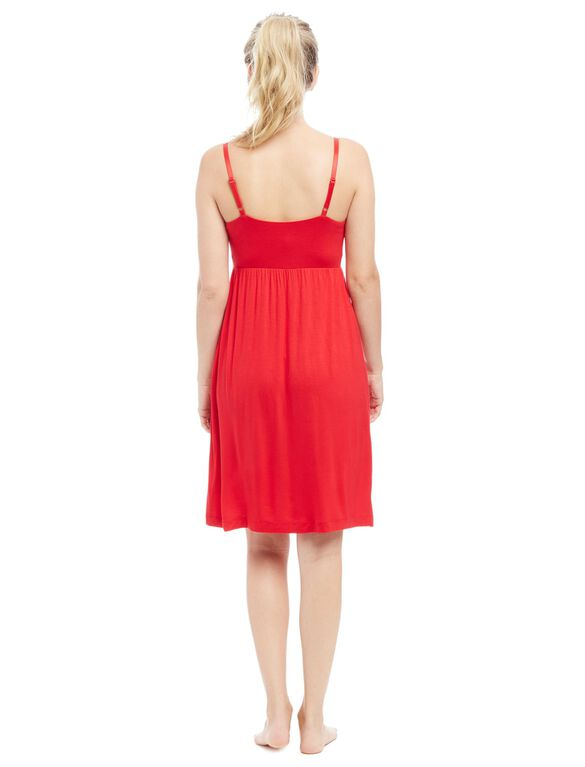 Bump in the Night Nursing Nightgown- Red, Red