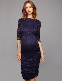 Soon Maternity Lace Maternity Dress, Navy