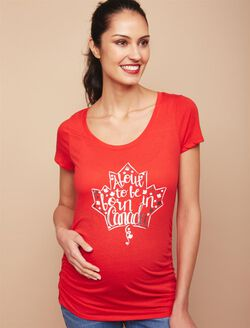 About to be Born in Canada Maternity Tee, Red