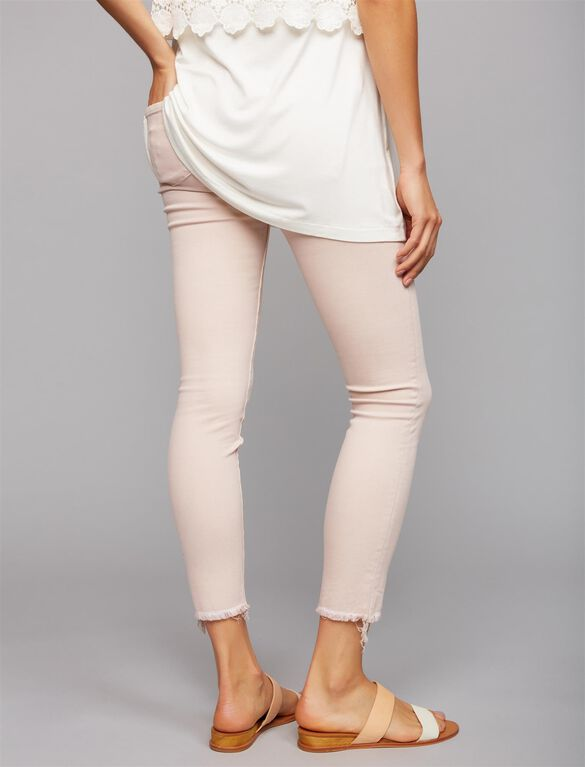 Articles Of Society Secret Fit Belly Fray Hem Maternity Jeans- Pink, Pink