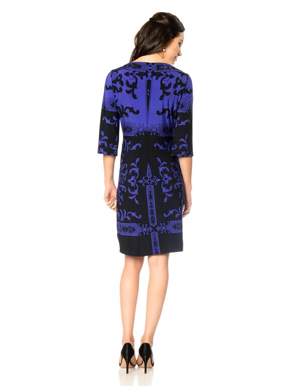 Donna Morgan Sheath Maternity Dress, Cobalt/Black