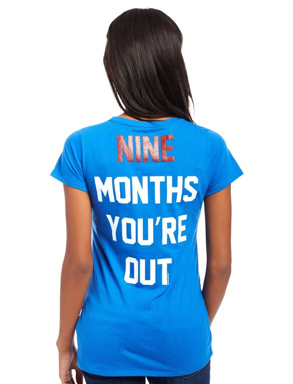 Toronto Blue Jays MLB You're Out Maternity Tee, Blue Jays Blue