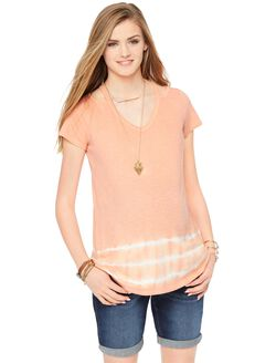 Wendy Bellissimo Tie Dye Maternity T-shirt, Muted Clay