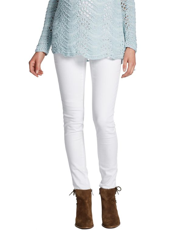 Jessica Simpson Long Secret Fit Belly Jegging Maternity Jeans, White