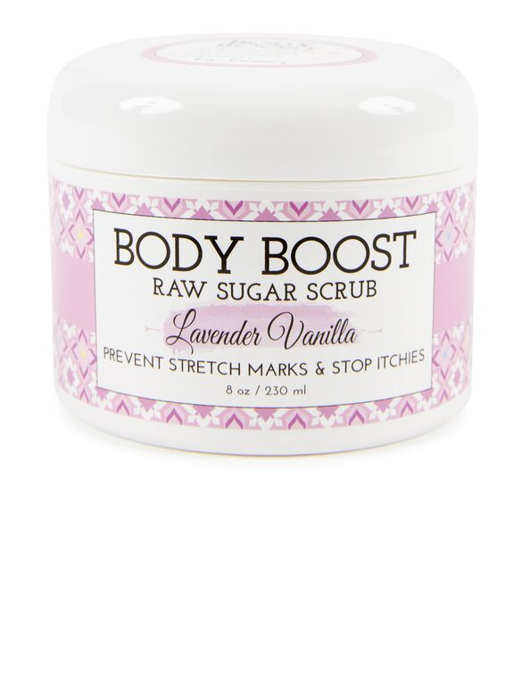 Body Boost by Basq Raw Sugar Scrub- Lavender Vanilla, Lav/Van