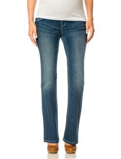 Indigo Blue Premium Under Belly Boot Cut Maternity Jeans, Dark Wash