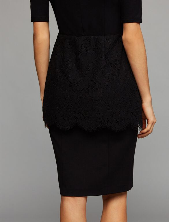 Secret Fit Belly Pencil Fit Maternity Skirt, Core Black