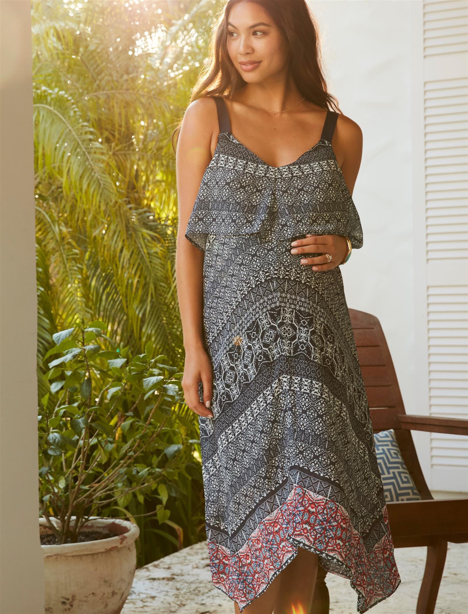 Jessica Simpson Hanky Hem Maternity Dress