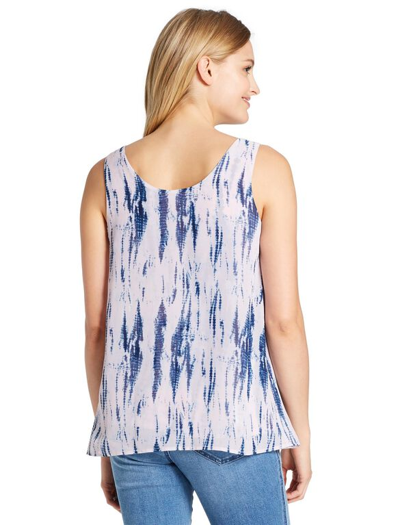 Jessica Simpson Lift Up Layered Nursing Top, Pink Blue Tie Dye