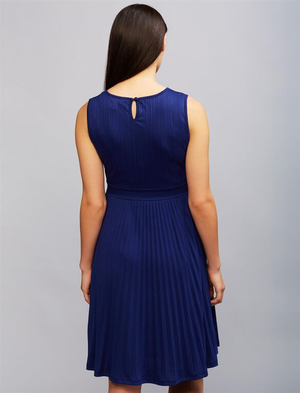 Ripe Pleated Maternity Dress, Navy