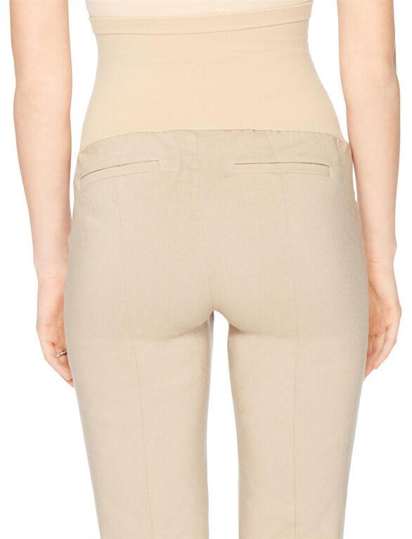 Secret Fit Belly Tech Twill Slim Maternity Pants, Khaki