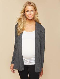 Smocked Maternity Cardigan, Grey